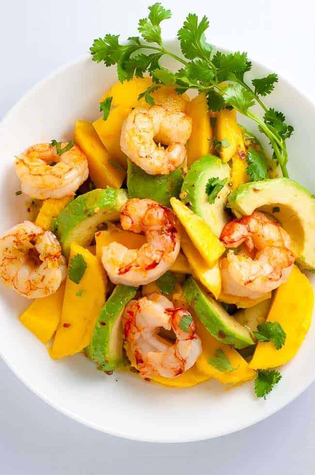 Prawn, Mango and Avocado Salad with Lemon Lime Vinaigrette