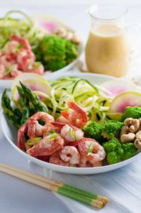 Pin for Grilled Shrimp Zoodle Bowl