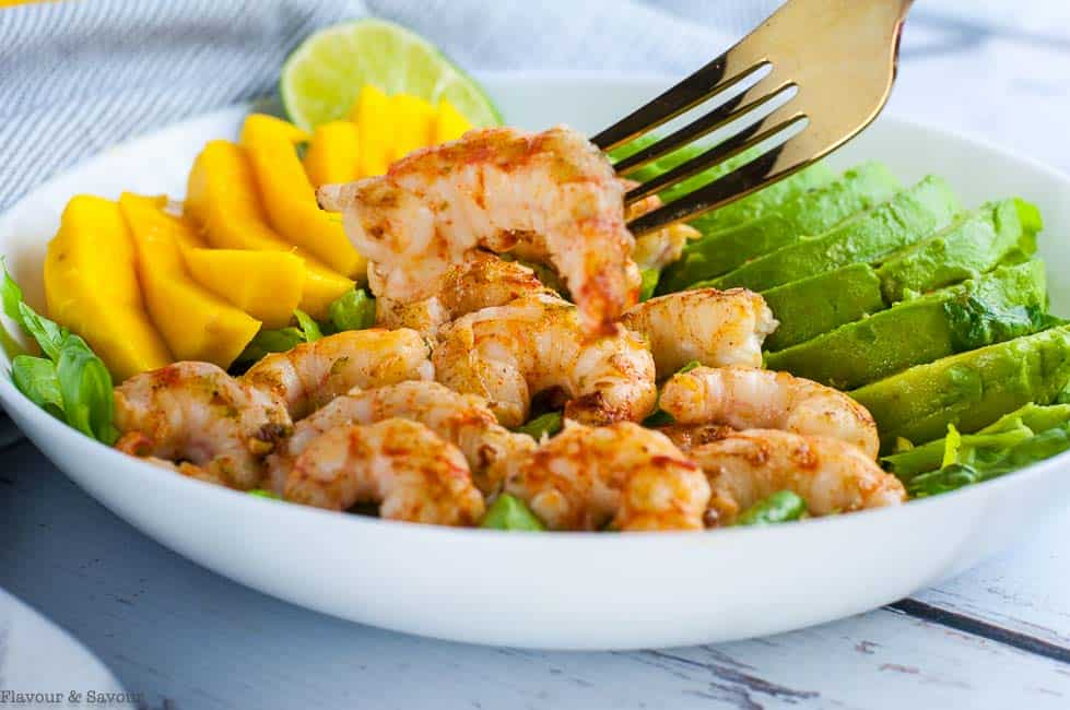 Fresh Prawns for Prawn Mango Avocado Salad
