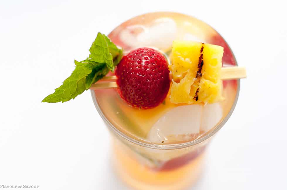Grilled Pineapple Strawberry Sangria