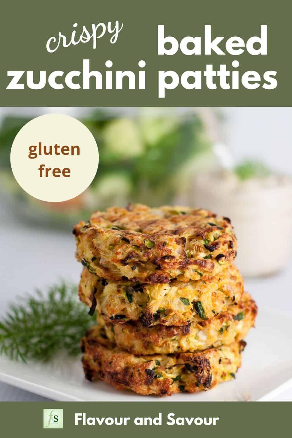 Pin for Crispy Baked Zucchini Patties 04/20
