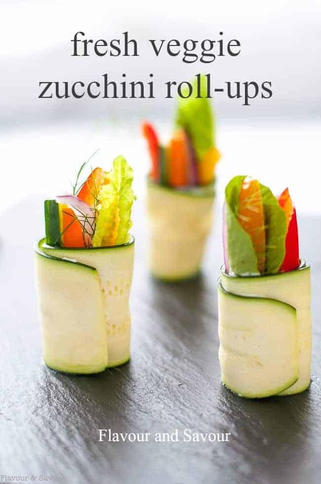 Text Overlay for Fresh Veggie Zucchini Roll-ups