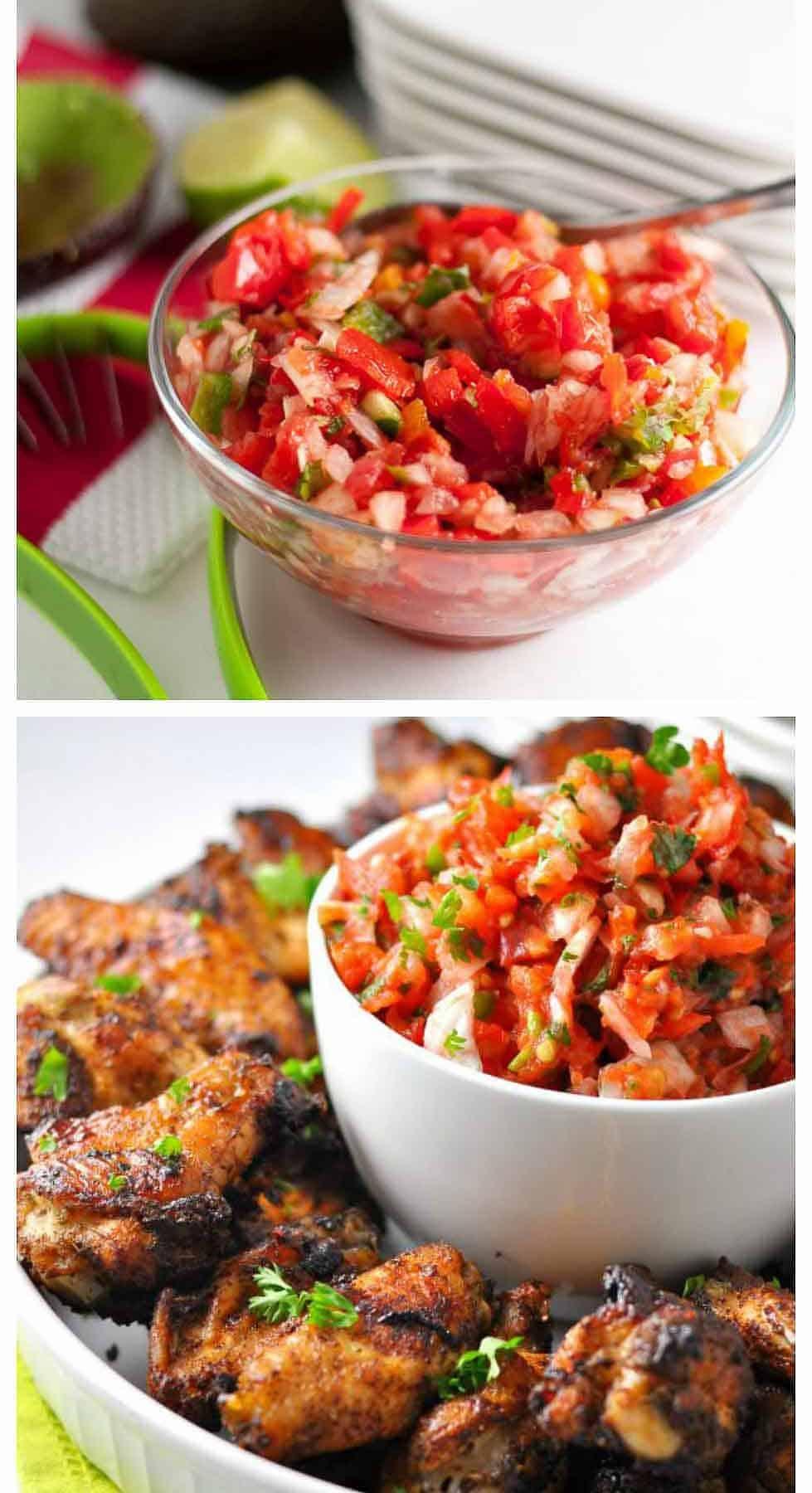 Pico de Gallo or Salsa Fresca. Six Fresh Salsa Recipes to Spice Up Your Life