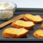Toasted Crostini for Strawberry Whipped Feta Crostini with Balsamic Drizzle  www.flavourandsavour.com