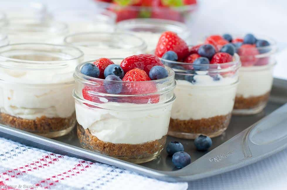 Mason Jar No Bake Cheesecake Flavour And Savour