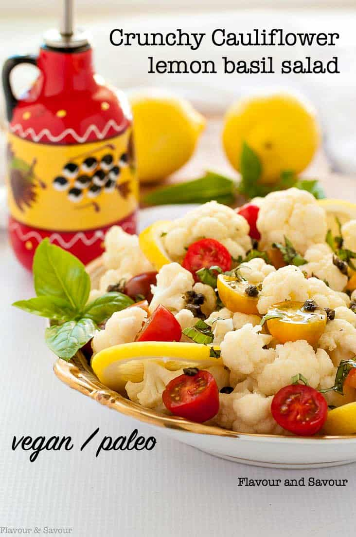 Cauliflower Lemon Basil Salad with Toasted Capers title
