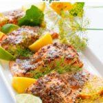 Honey Dijon Glazed Salmon in foil pin