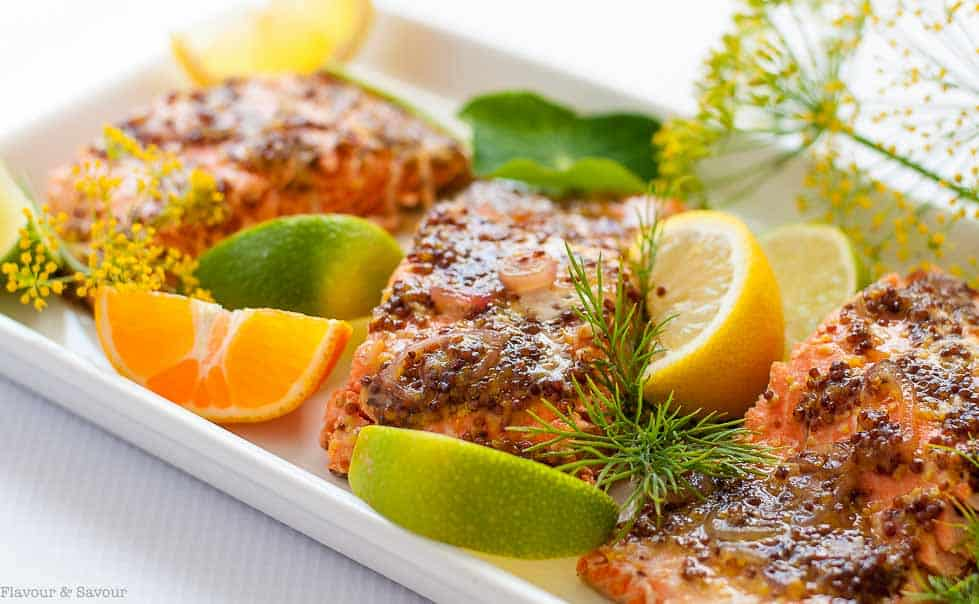 Honey Dijon Glazed Salmon in Foil |www. flavourandsavour.com