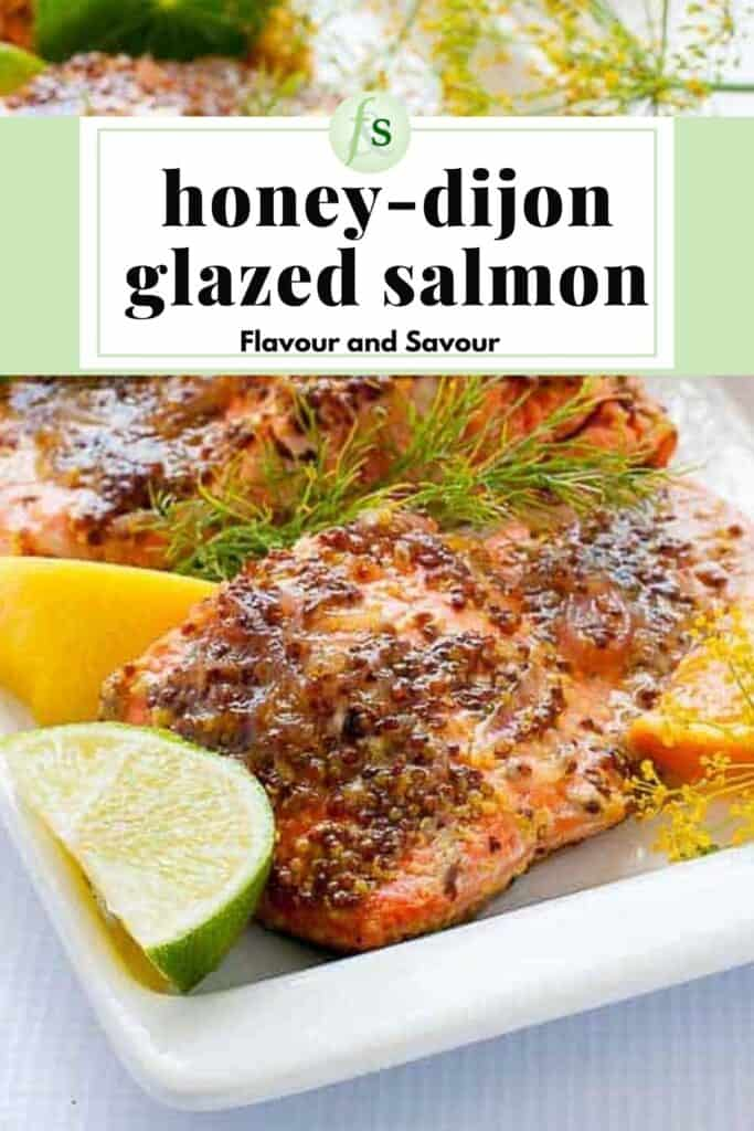 Image and text for Honey Dijon Glazed Salmon in foil