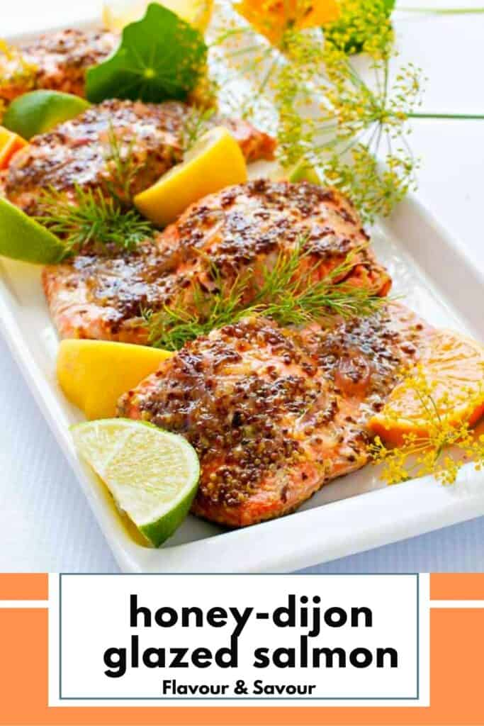 Image with text for Honey Dijon Salmon