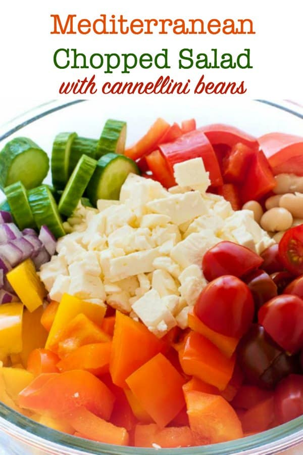 Mediterranean Chopped Salad with Cannellini Beans title