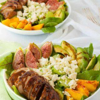 Succulent Balsamic Glazed Chicken Salad with Fresh Figs |www.flavourandsavour.com