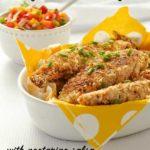 Cajun Chicken Strips with Fresh Nectarine Salsa