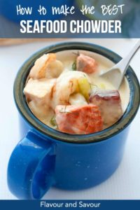 Pinterest PIn for How to Make the Best Seafood Chowder