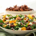 Butternut Squash Salad with Kale Cranberries + Feta |www.flavourandsavour.com