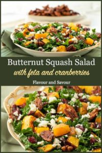Pinterest Pin for Butternut Squash Salad with cranberries