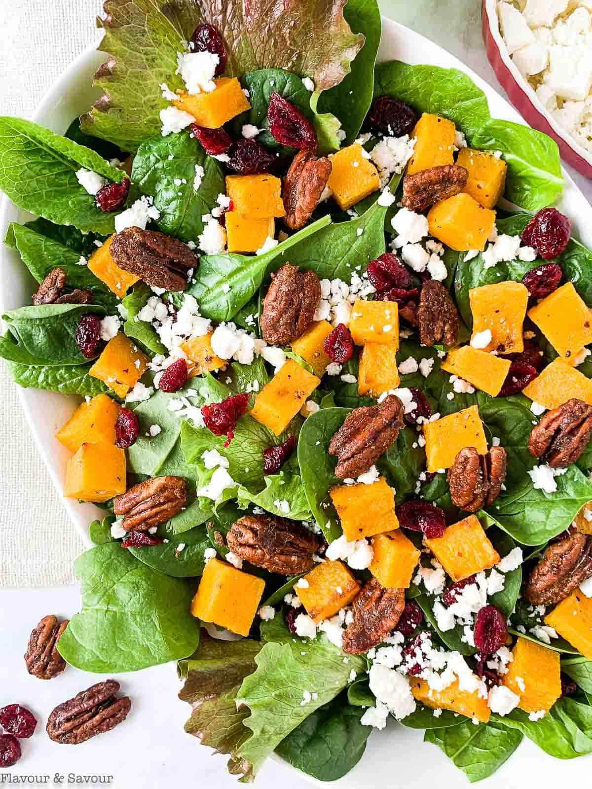 Close up view of Butternut Squash Salad