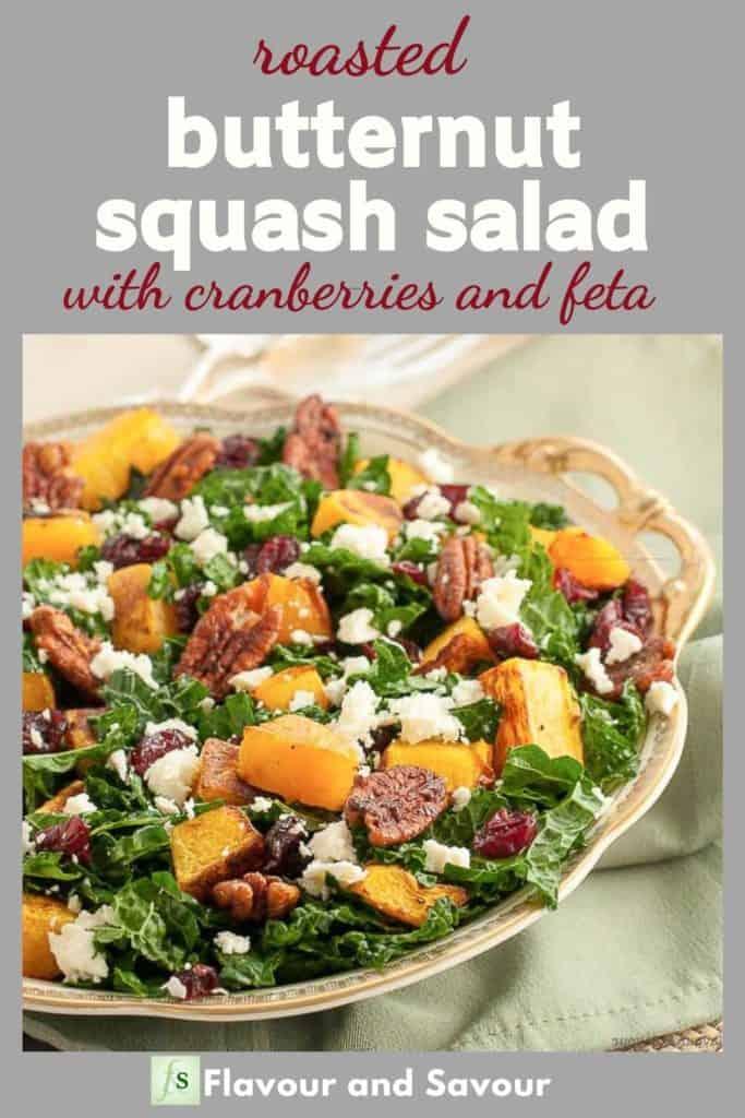 Pinterest image for Butternut Squash Salad