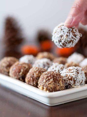 Pumpkin Peanut Butter Chocolate Energy Balls