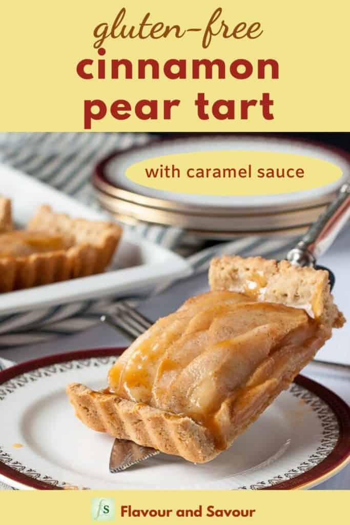 Pinterest Image for Gluten-Free Cinnamon Pear Tart pin
