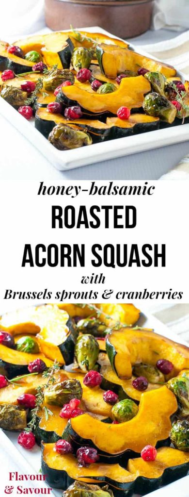 This honey balsamic roasted acorn squash makes a tasty, colourful paleo side dish for any fall or winter dinner. Takes less than 30 min. Great for holiday meals!