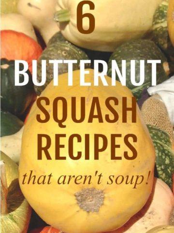 6 butternut squash recipes that aren't soup!  www.flavourandsavour.com