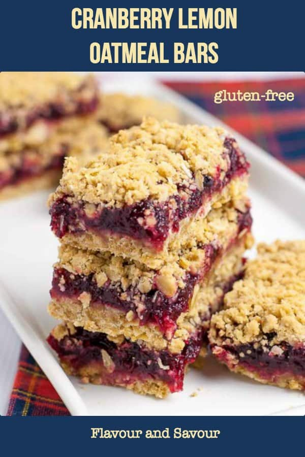 Cranberry Lemon Oatmeal Bars