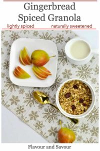 PInterest Pin for Gingerbread Spiced Granola