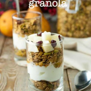 30 minute Gingerbread Spiced Granola. A nutritious breakfast for the holiday season!