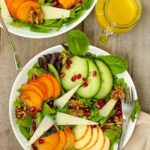 Persimmon Pomegranate Salad with Maple Walnuts and Honey Dijon Dressing