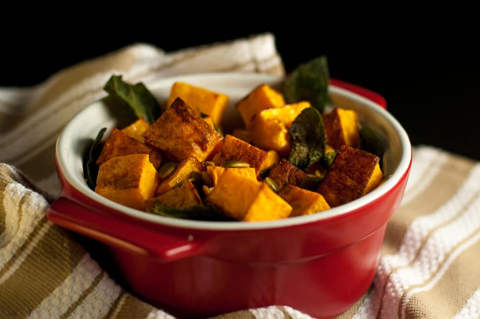 Roasted Butternut Squash with Sage and Pepitas