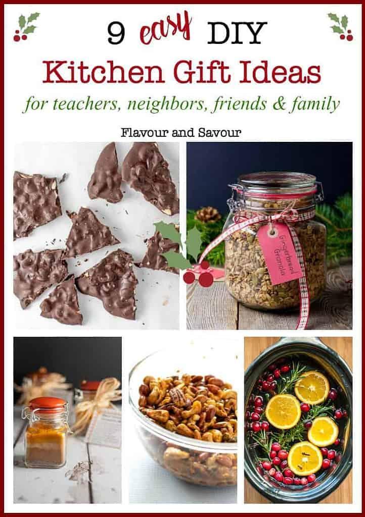 9 Easy Kitchen Gift Ideas collage