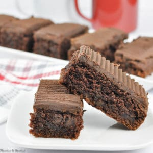 Two bars of grain-free Amaretto Brownies