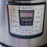 Set the time for 14 minutes to cook Instant Pot Carrot Ginger Soup