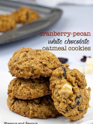 Cranberry Pecan White Chocolate Oatmeal Cookies
