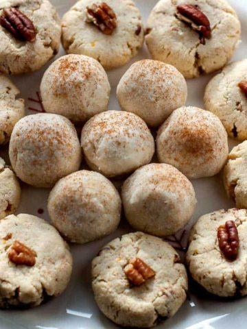 Gluten-Free Almond Shortbread Cookie Balls--Two Ways