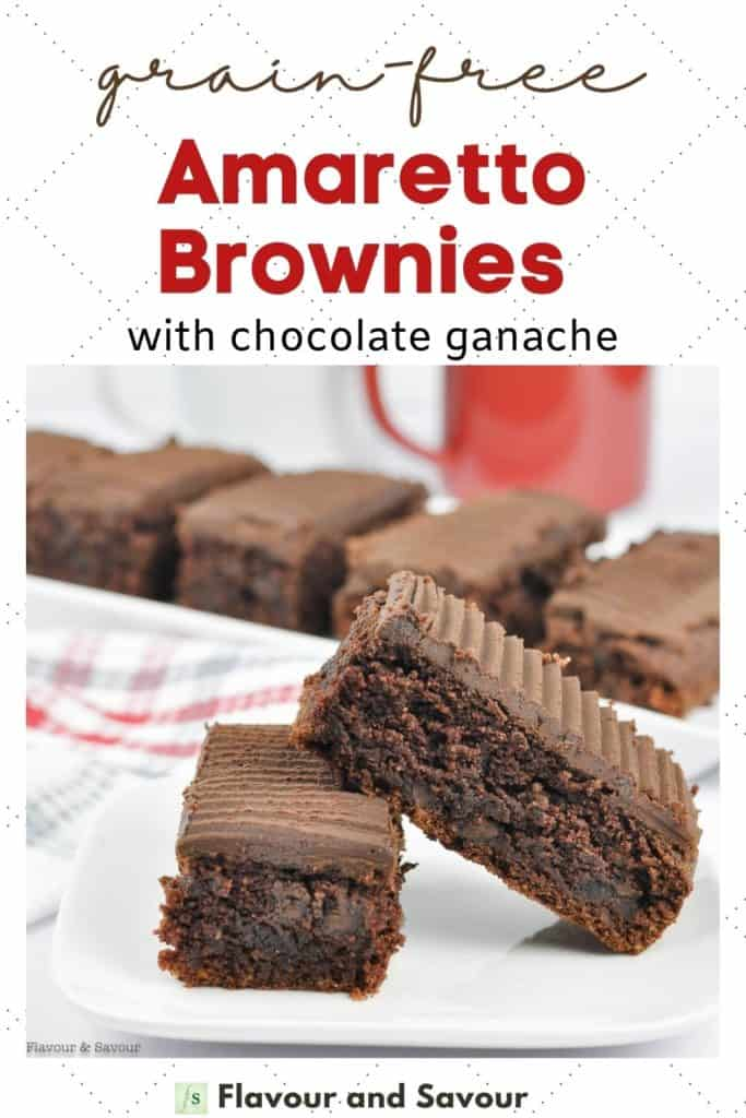 Image with text for Grain-Free Brownies with Chocolate Ganache