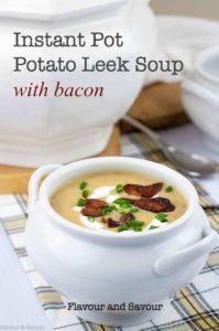 Title for Instant Pot Potato Leek Soup with Bacon