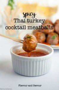 Spicy Thai Turkey Cocktail Meatballs