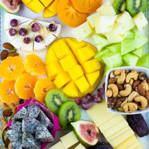 Tropical Fruit Nut and Cheese Platter
