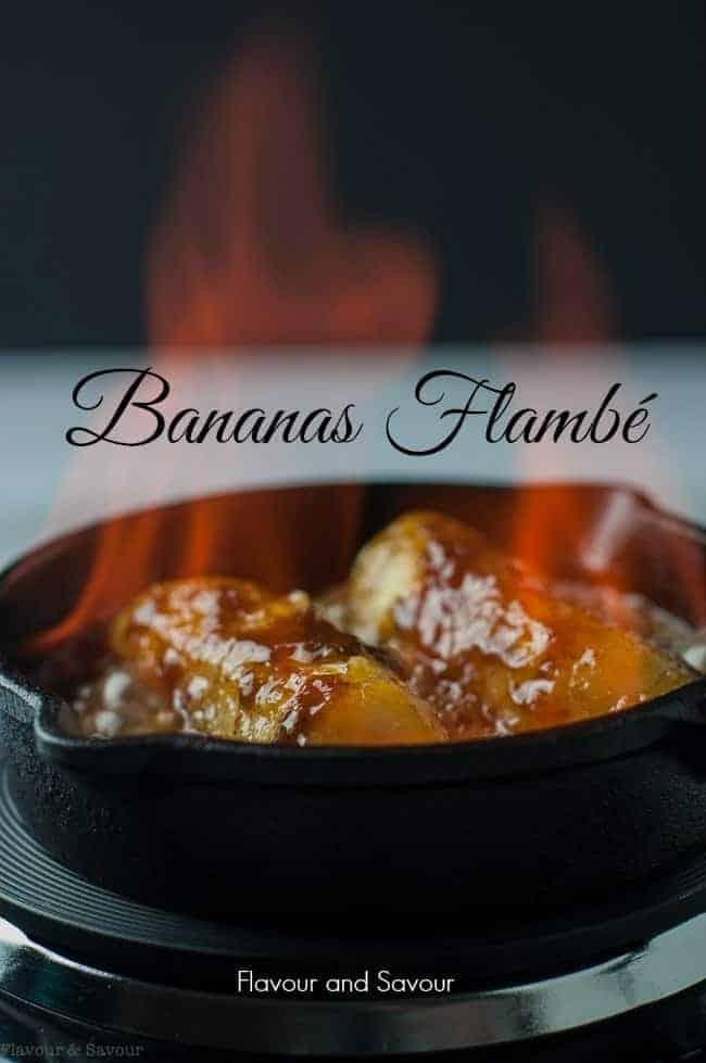 Caribbean Rum Bananas Flambé with Amaretto
