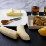 Ingredients for Caribbean Rum Bananas Flambé with Amaretto