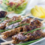 Ginger-Garlic Glazed Korean Chicken Skewers