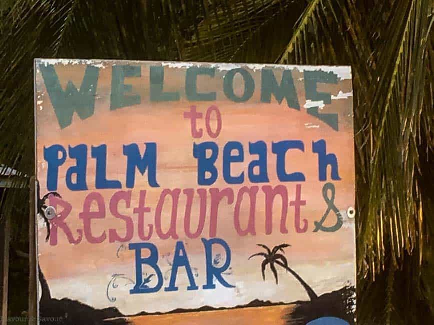 Welcome to Palm Beach Restaurant and Bar Petite Martinique St. Vincent and the Grenadines
