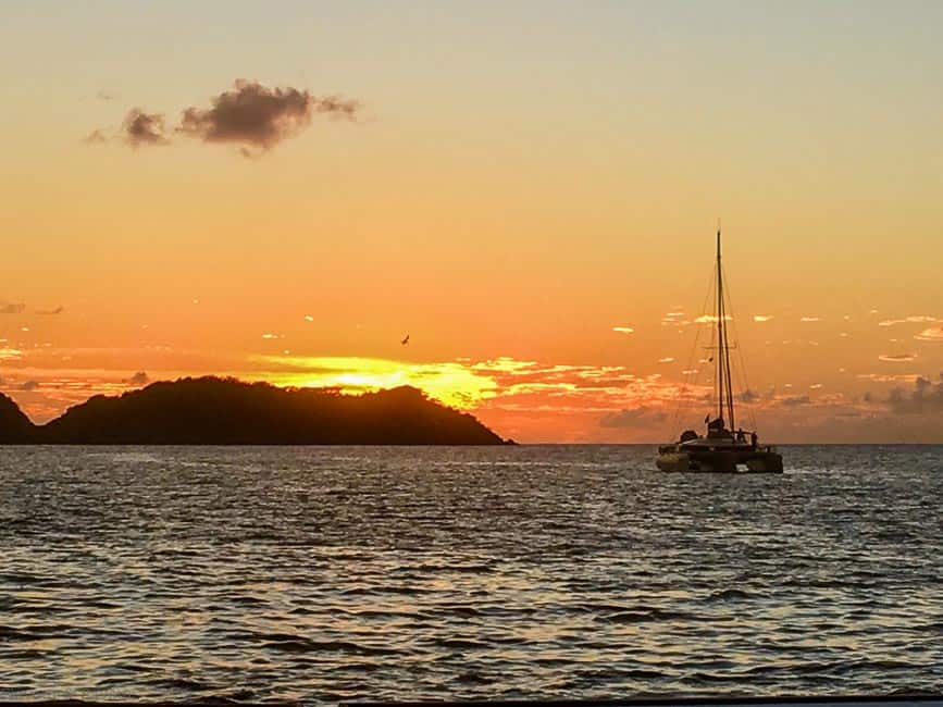 Sunset near Petite Martinique, Windward Islands, St. Vincent and the Grenadines