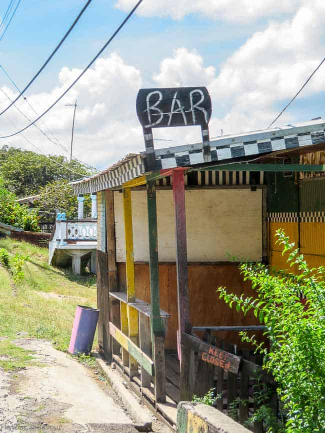 Roadside Bar on Petite Martinique St. Vincent and the Grenadines