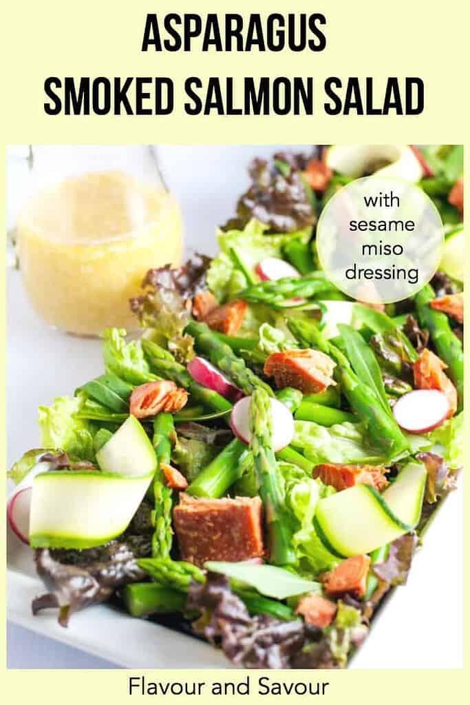 Asparagus Smoked Salmon Salad pin