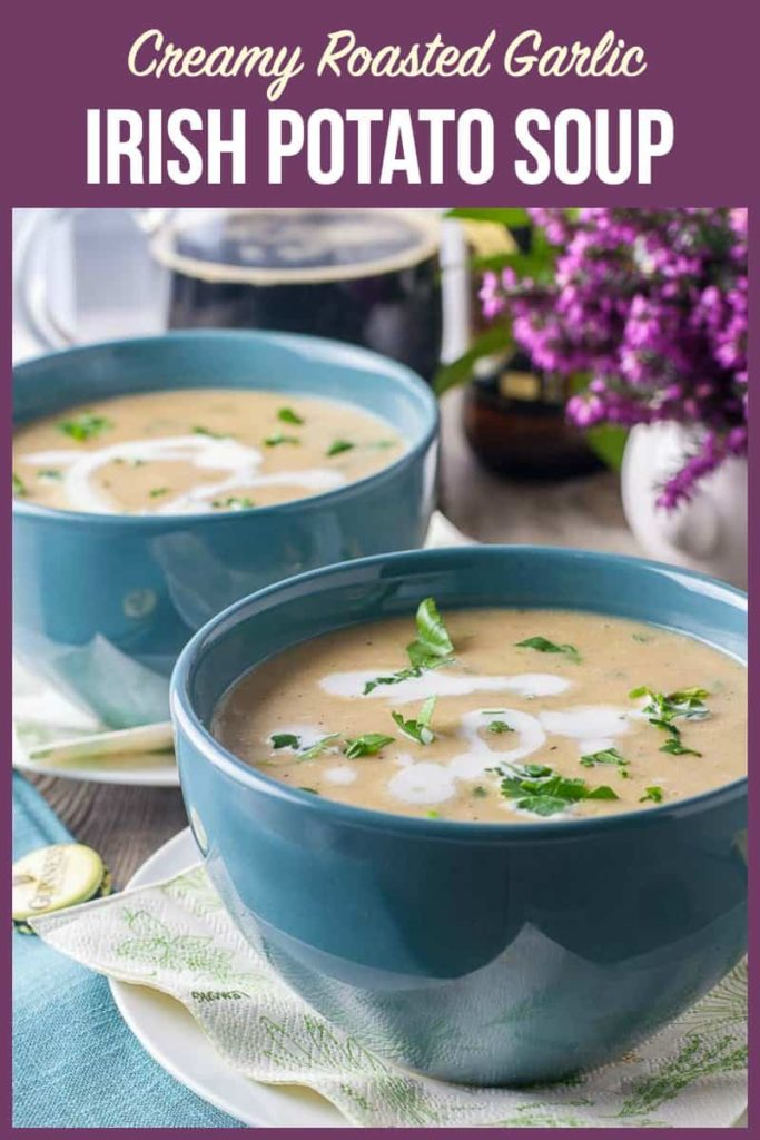 Pinterest Pin for Irish Potato Soup