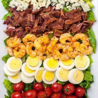 Lemon Garlic Shrimp Cobb Salad