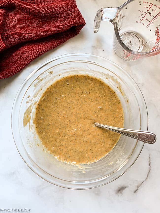 Combining chia with peanut butter mixture